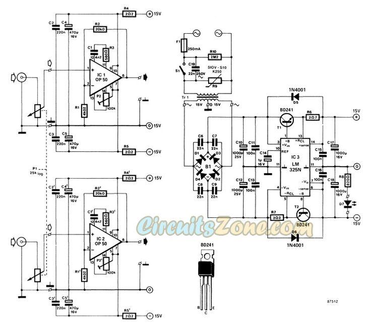 Headphone Amplifier Circuit Based IC Op-50 » Circuits Zone