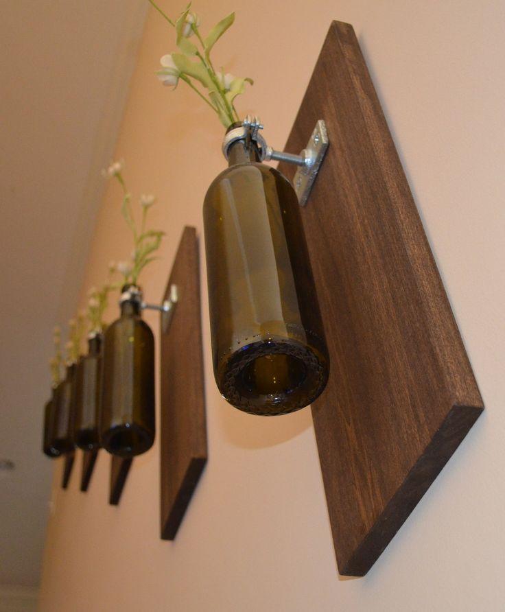 Poplar Wall Vase - Wine Bottle, via Etsy.
