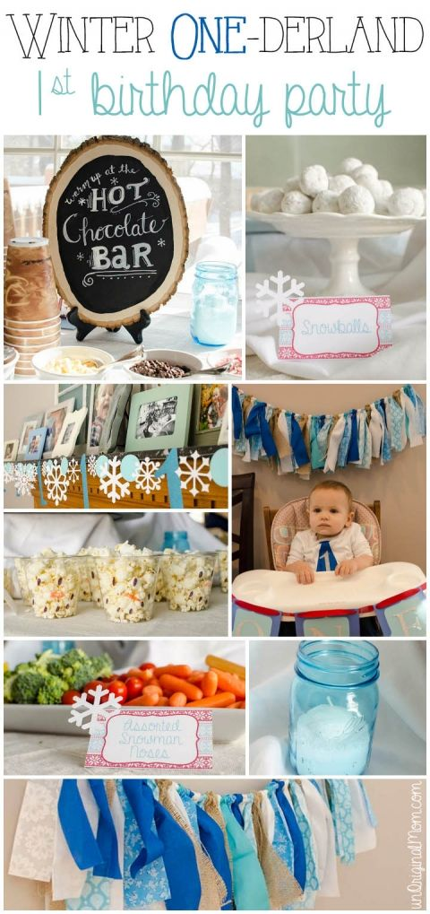 Winter ONEderland first birthday party - what a cute idea for a winter birthday!