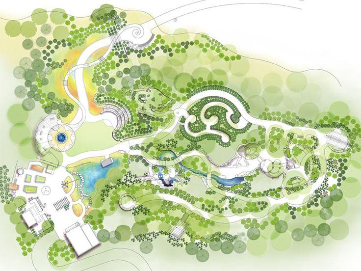 Downing Children's Garden at Botanica Gardens - Wichita, Kansas  Illustrative Plan by Azur Ground