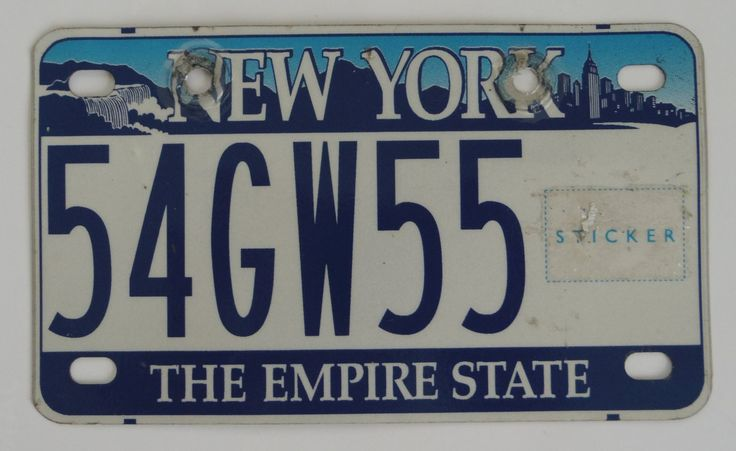 $19.99 New+York+The+Empire+State+Motorcycle+Moped+License+Plate