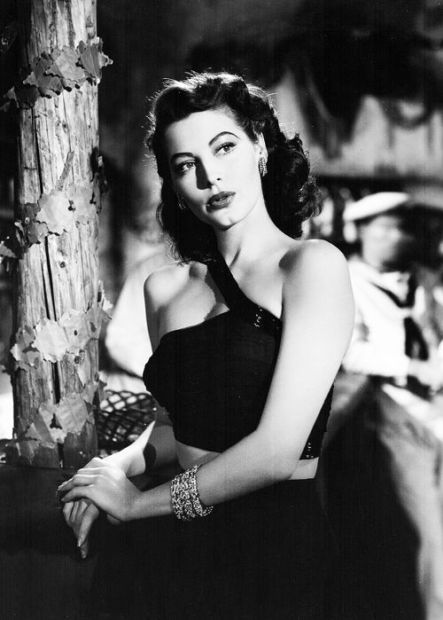 """lanky-brunettes-with-wicked-jaws: """" Ava Gardner in The Bribe (1949) as Elizabeth Hinton """""""