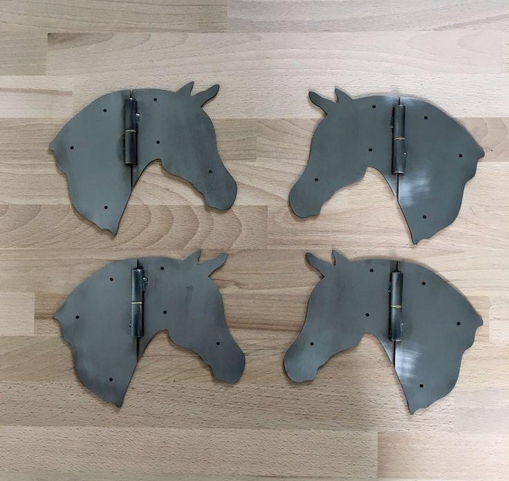 Scharnier Design Pferdekopf Möbelbeschläge Schranktür Möbelscharnier Pferd  | eBay
