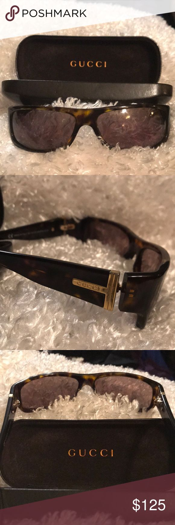 Gucci Sunglasses Tortoise Frames This listing is for a pair of Gucci GG 1545/S tortoise women's designer fashion sunglass / eyeglass frames. They are in great PreOwned condition with no Issues on lens or frames, Gold tone trim and Gucci case is included with purchase. Please see photos for additional details. Thanks and Happy EveryThing Gucci Accessories Sunglasses