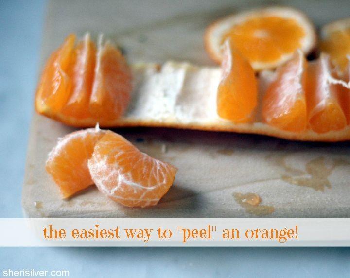 the easiest way to peel an orange | Eat, drink & be merry | Pinterest