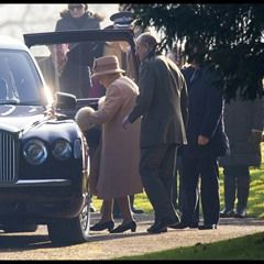 The Queen and Duke of Edinburgh leave their Sunday Mass at St. Mary Magdalene Church