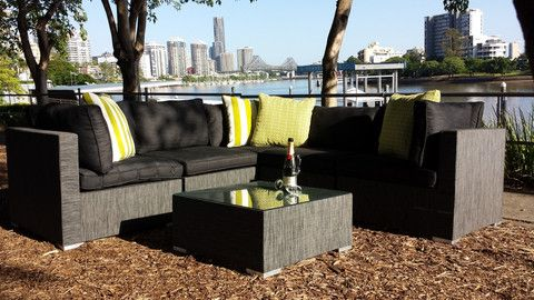 Casuarina outdoor lounge - 2 x 2 seaters plus 2 x coffee table ~ $1,500