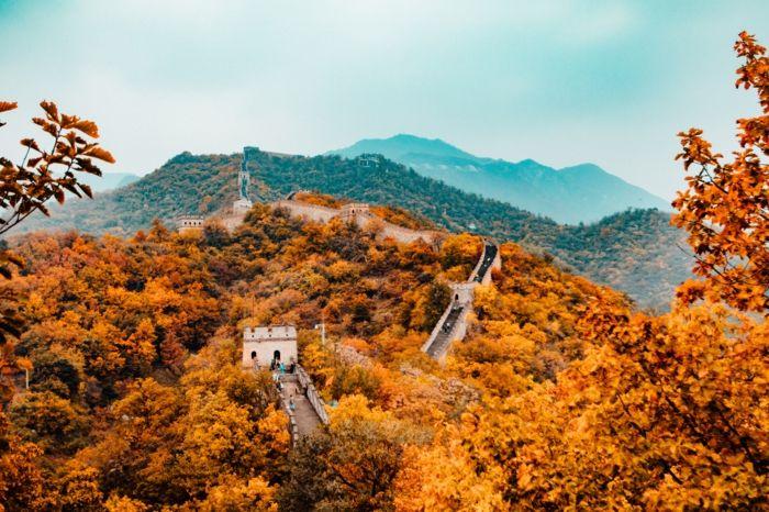 1001 Jolies Photos Pour Fond D Ecran De Paysage D Automne Grande Muraille De Chine Meilleurs Lieux De Vacances Paysage