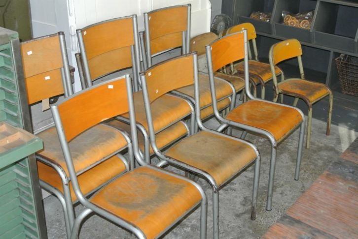 Franse school stoelen