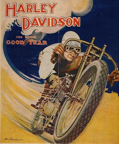 Harley Davidson with Goodyear Tires