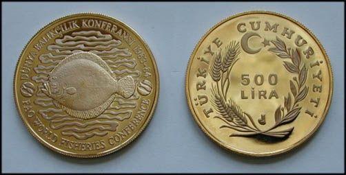 """F.A.O. 500 Lira """"Balıkçılık""""-çill 1984 -"""