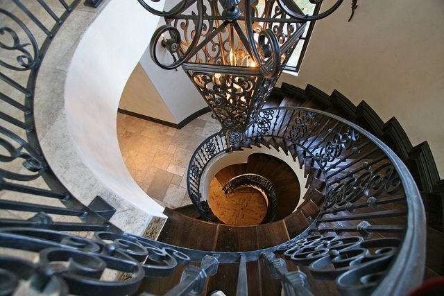 12 best images about multi million dollar old world home for Two story spiral staircase