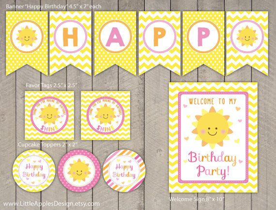 Banner Idea - White circle with orange and pink letters on  yellow background - need yellow chevron paper