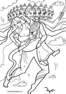 The Story of Diwali plus  free printalbe coloring pages, puzzles, and a link to a you tube video story