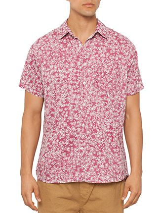 Image for Printed Short Sleeve Shirt from David Jones