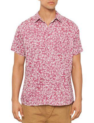 Image for Printed Short Sleeve Shirt from David Jones