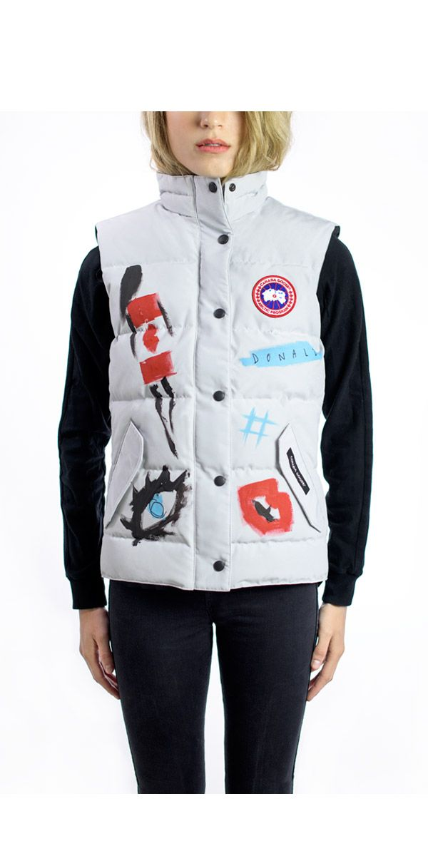 Handcrafted, hand painted. The Donald Robertson X Canada Goose #FreestyleVest