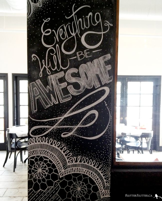 QUOTE Everything Will Be Awesome Chalkboard Wall