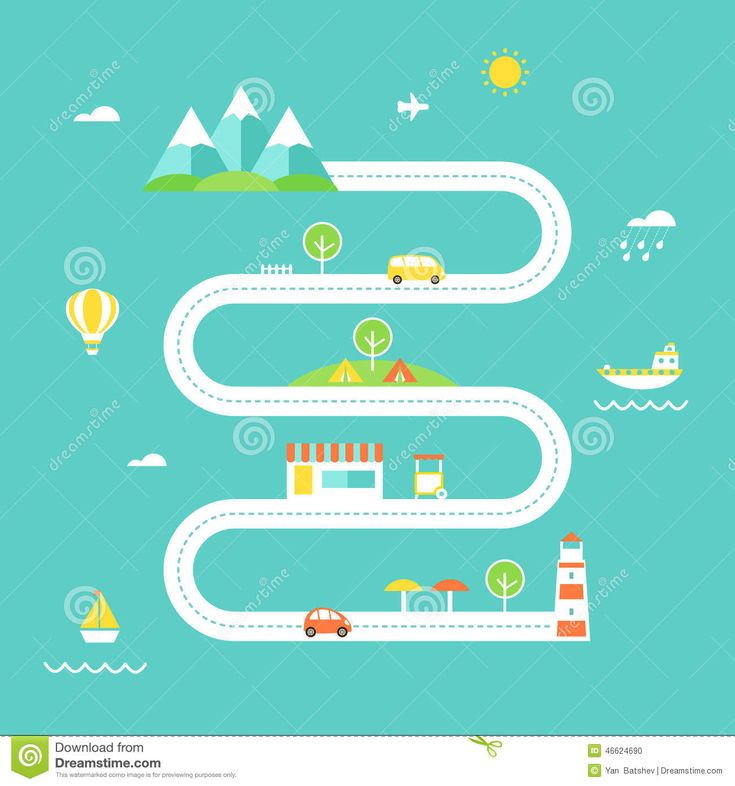 flat illustration map - Google Search