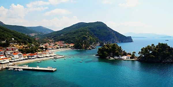 View over the port of Parga