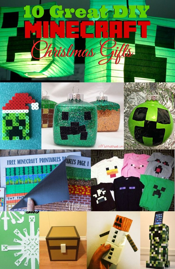 10 Great DIY #Minecraft Christmas Gifts | Housewife Hellraiser