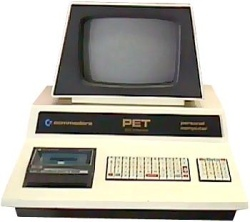 The Commodore Pet - These started being used in High Schools in the early to mid 1980's