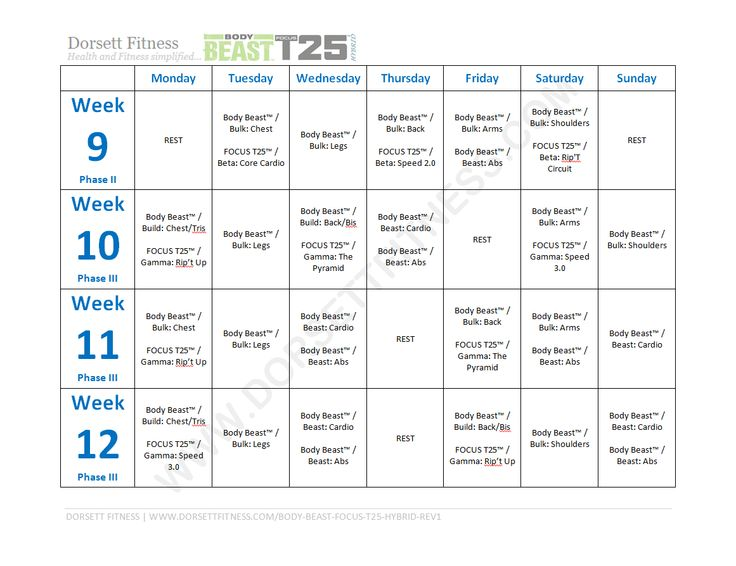 100+ Beachbody T25 Calendar – yasminroohi