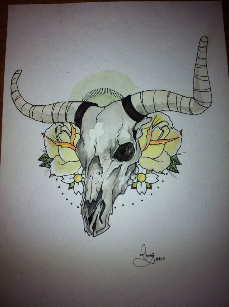 dmuggg:  finished bull skull.