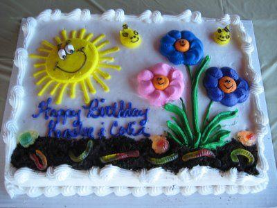Sunshine And Flowers Birthday Cake