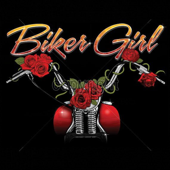 Motorcycle Womans T Shirt  Biker Girl Short Sleeve Shirt 16348
