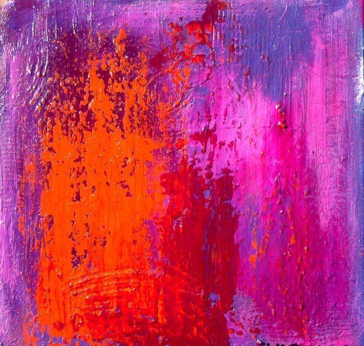 Maleri No.1 50 x 50 - Dette maleri fik mig i gang med at male igen...Fantastisk :)