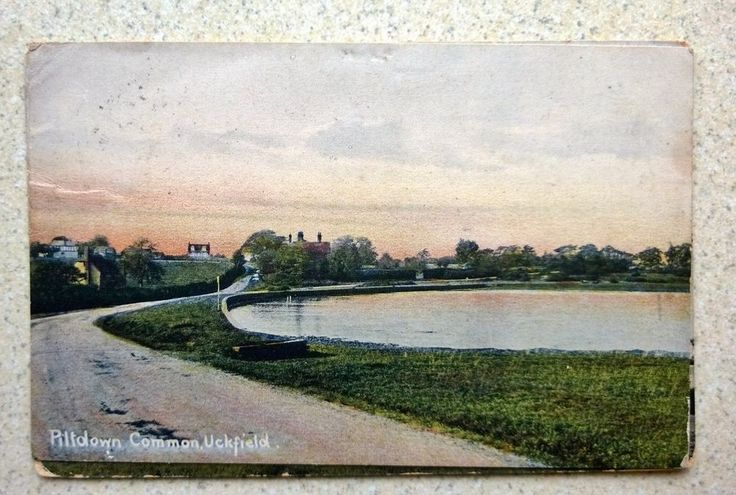 1907 Coloured Postcard showing Piltdown Common Uckfield Sussex by Harcourt Smith