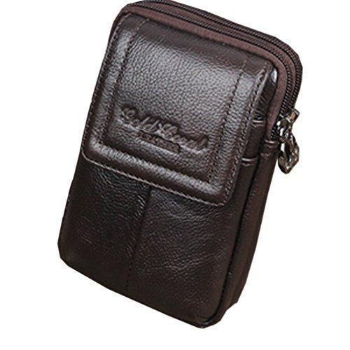 Oferta: 14.25€. Comprar Ofertas de Cell Teléfono móvil Funda de piel auténtica hombres cinturón monedero riñonera bolsa de cintura barato. ¡Mira las ofertas!