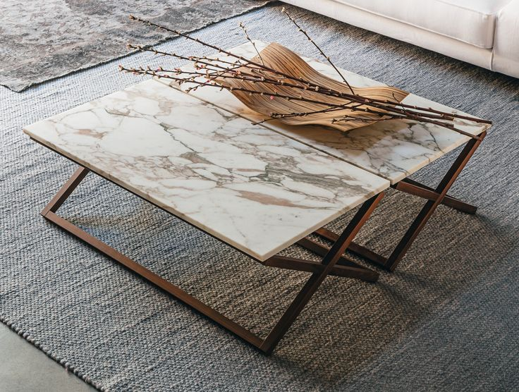 9500 - 32 Marble coffee table by Vibieffe design Gianluigi Landoni