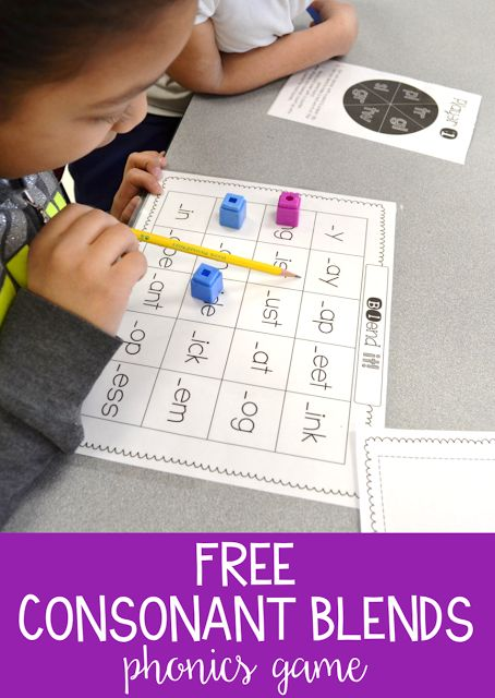 A fun and FREE game to help students practice consonant blends! Students just print and play - there is no prep!
