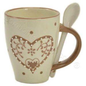 Tazza Caffè Latte in ceramica decoro Cuore