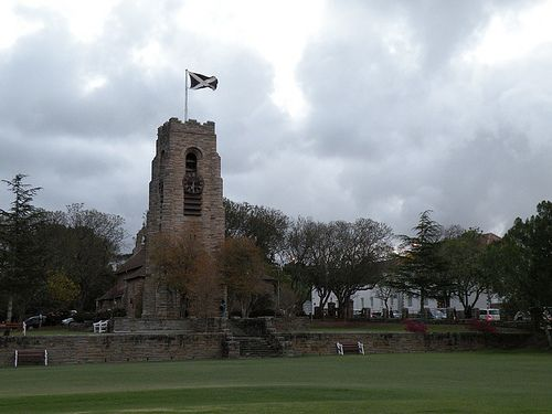 St Andrews College clock tower with the Chapel behind it. Grahamstown, Eastern Cape.    Flickr - Photo Sharing!