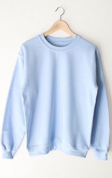 NYCT Clothing Oversized Sweater - Blue