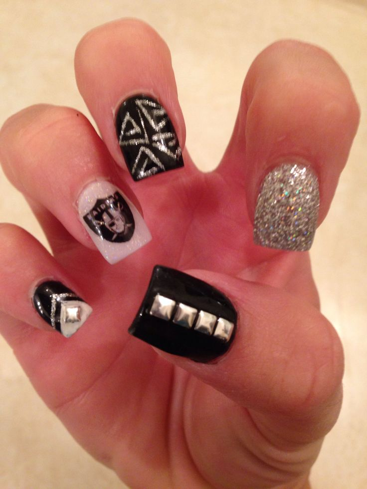 25+ Best Ideas About Raiders Nails On Pinterest