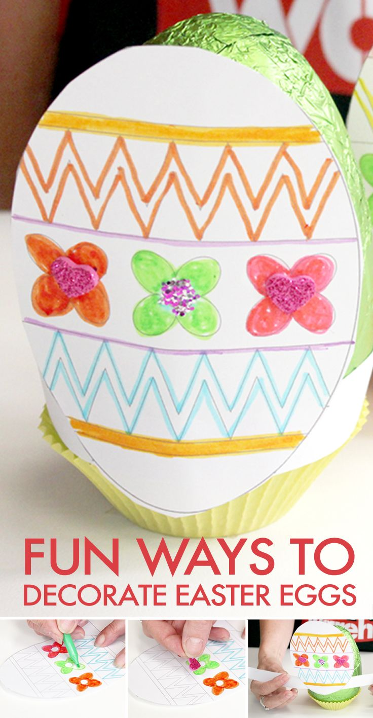Here's a great way for kids to decorate chocolate #Easter eggs for their friends or family.
