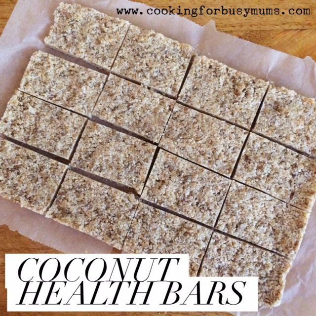 Coconut Health Bars. Good nut free snack bar.