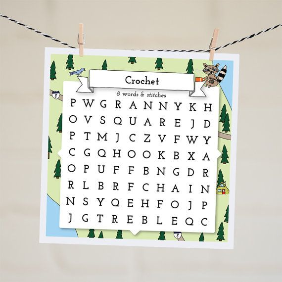 Crochet Word Search Card | I Love Crochet | Card for Best Friend | Word Finder…