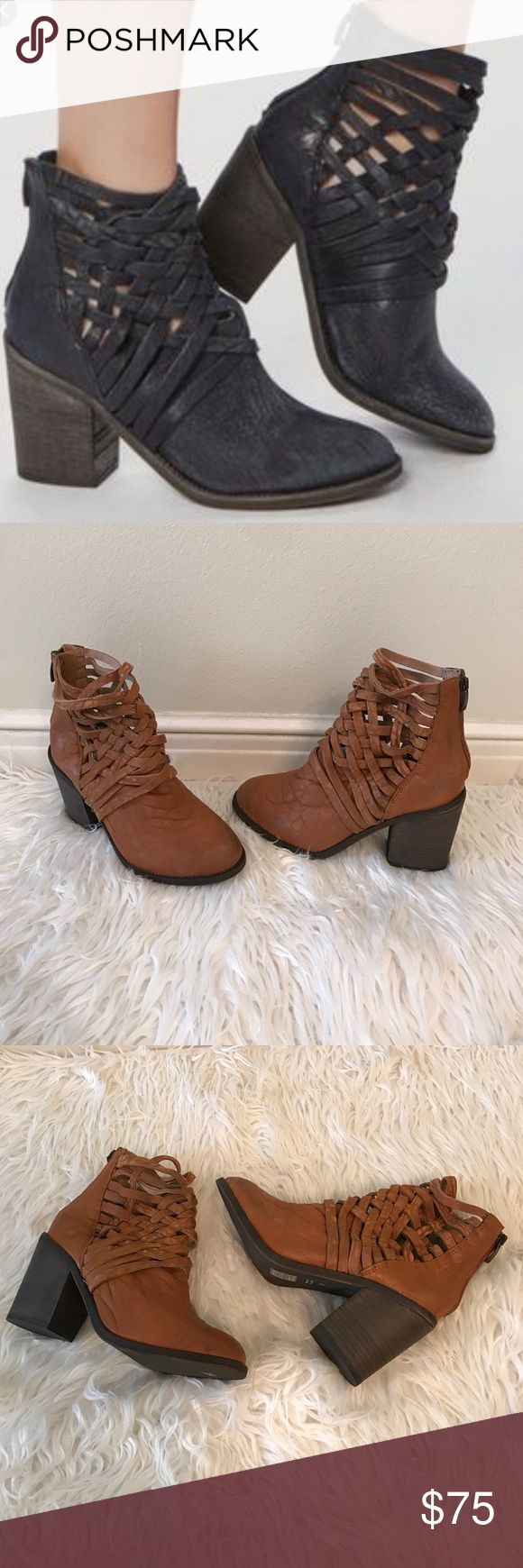 Free People Braided Ankle Booties NWOB. Perfect for festivals! Very comfortable Bootie. ✅Bundle & Save Sorry no trading Fast Shipper Happy Poshing Free People Shoes Ankle Boots & Booties