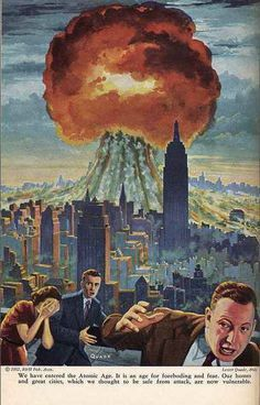 'We have now entered the Atomic Age' - 1952 Illustration by Lester Quade.: