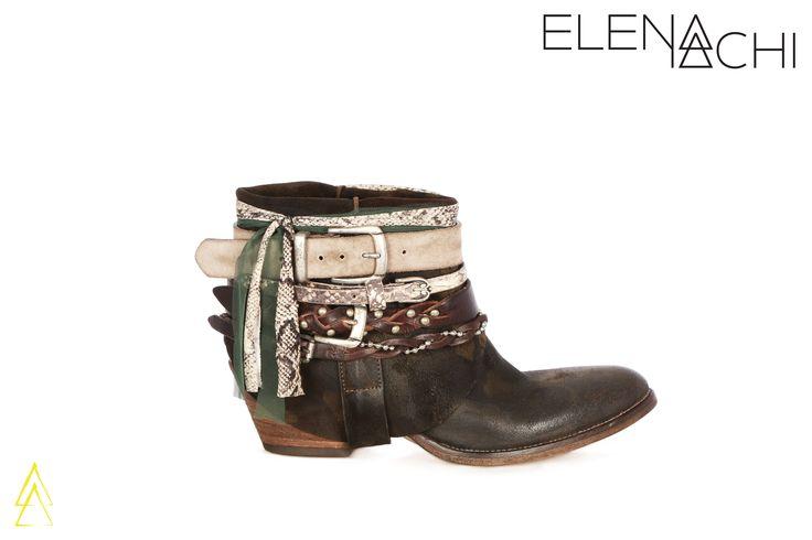 www.elenaiachi.com  #madeinitaly #fashionshoes #ankle #boots #elenaiachi #shoes #fashion #handmade #style #kanna #camouflage #camo #mimetic #belt