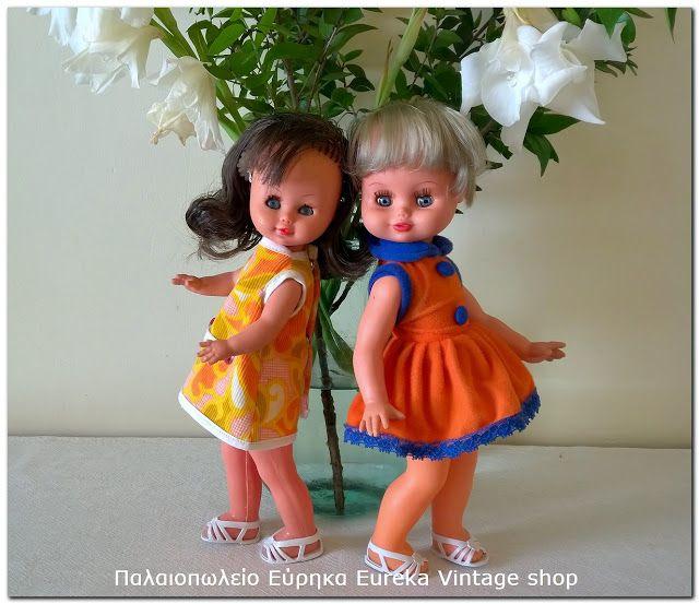 Γλυκές αναμνήσεις από την δεκαετία 1970's Ρένα Κορασίδη (αριστερά) και el Greco (δεξιά).  Και οι 2 κούκλες είναι σε άριστη κατάσταση. Ύψος 28εκ περίπου.