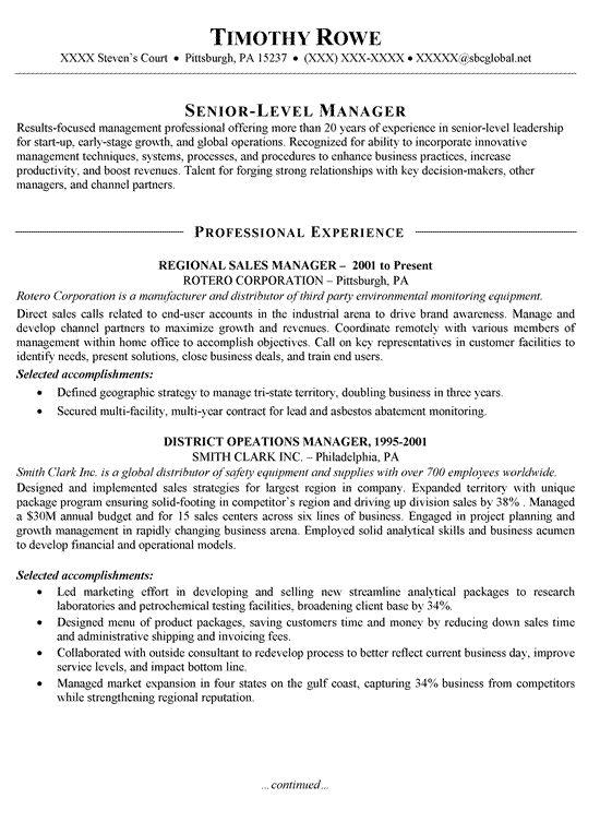 perfect sales resume