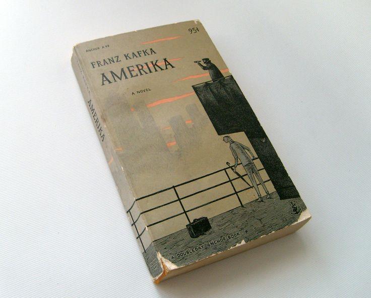 Franz Kafka Amerika Anchor . 1955 . Edward Gorey cover art
