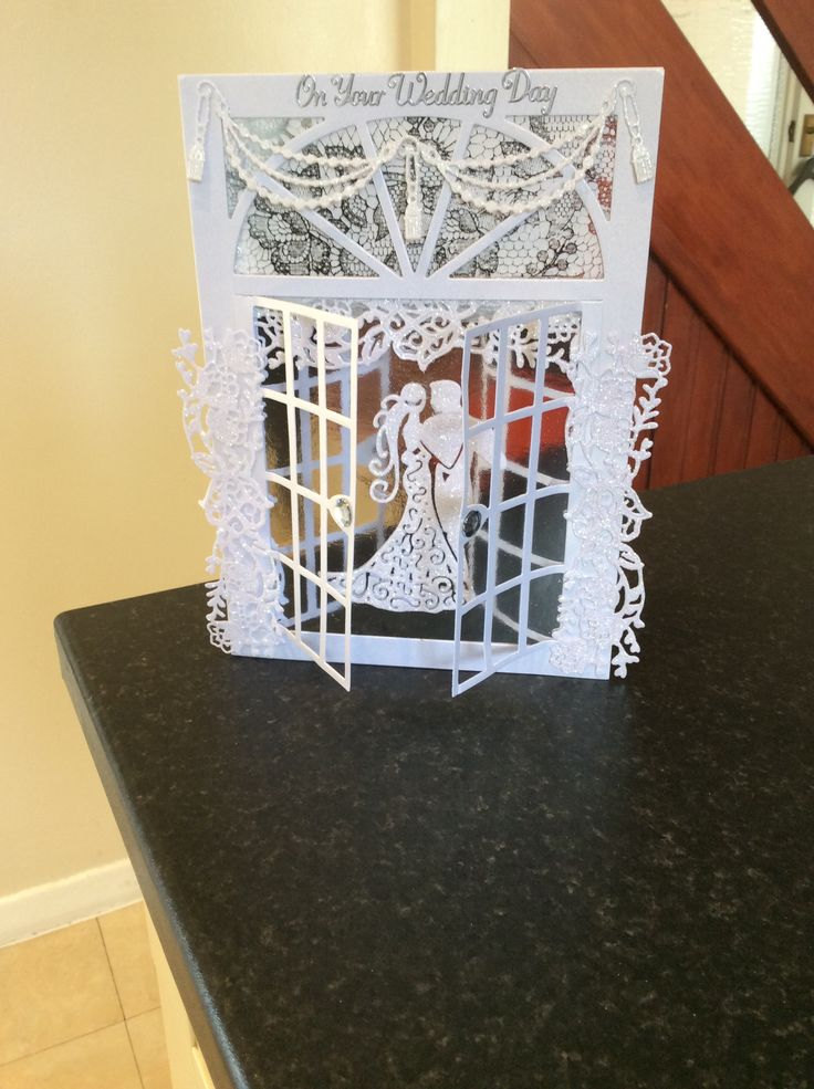 Superb Card Making Ideas Using Tattered Lace Dies Part - 5: Made By Sue Rose - Used Tattered Lace Window Die For This Wedding Card All  The