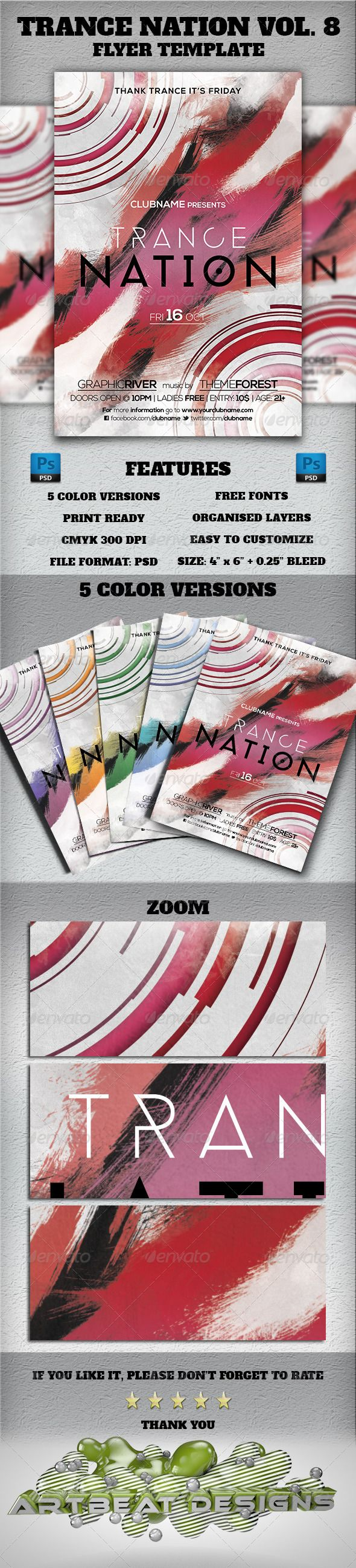 Trance Nation Vol. 8 Flyer Template